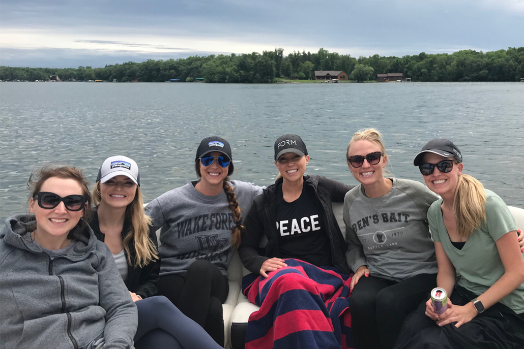 The Kalon team on a lake retreat